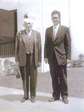 Pastor Hermann Brückner (left) and Pastor Dr. Herbert Patzelt (right)